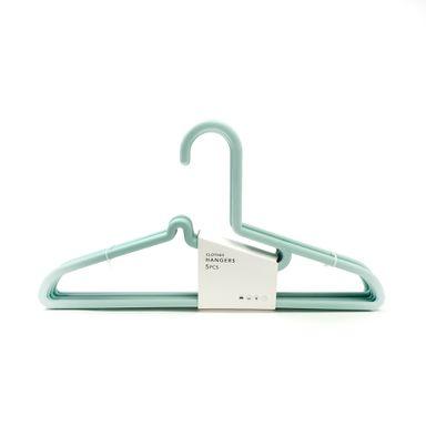 Gancho para ropa antideslizante x 5 pzs menta -  Miniso