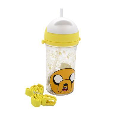 Vaso de plástico con sorbete 400 ml amarillo - Adventure Time