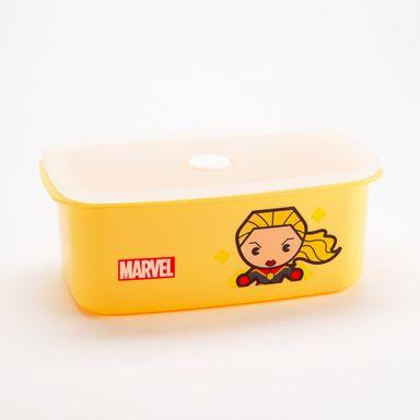 Taper de comida capitana marvel 950 ml amarillo -  Marvel