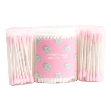 Cotonetes de algodón azul/rosa 300 pzas candy time - Candy Series