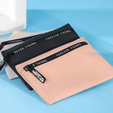 Bolsa clutch casual zip print colores mixtos -  Miniso