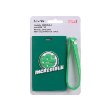 Etiqueta para equipaje verde - Marvel