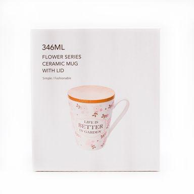 Taza de cerámica flower rosa - Miniso
