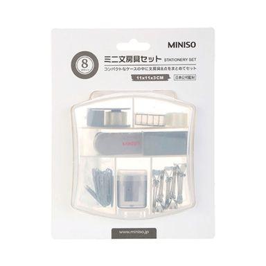 Mini set de oficina azul 8 pzas -  Miniso