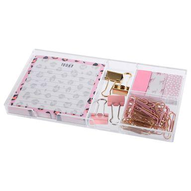 Set de papelería leopardo rosa - Miniso