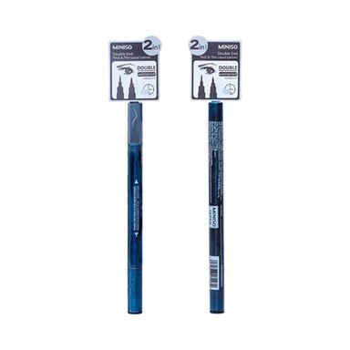 Delineador para ojos líquido doble -  Miniso