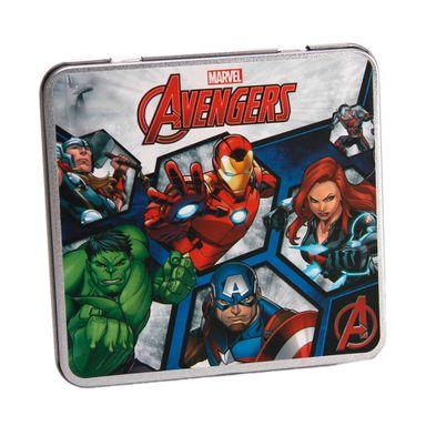 Lápices de colores en caja metálica 12 pzs -  Marvel
