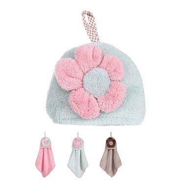 Toalla para manos de flor rosa/azul/café - Miniso