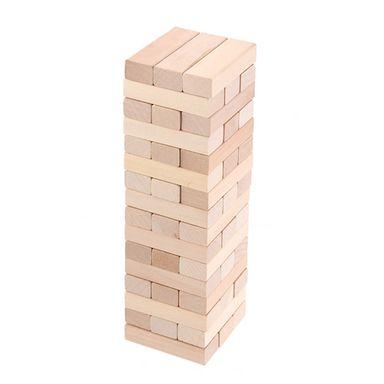 Juego de torre de bloques de madera natural - Miniso
