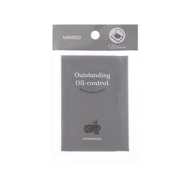 Toallas absorbentes de aceite carbon negro 120hojas - Miniso