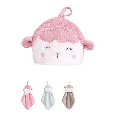 Toalla para manos de oveja rosa/azul/café - Miniso