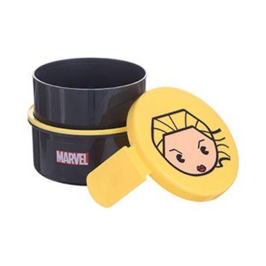 Contenedor para lunch de doble capa capitana marvel negro - Marvel