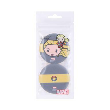 Esponja para maquillaje capitana marvel negro y amarillo -  Marvel