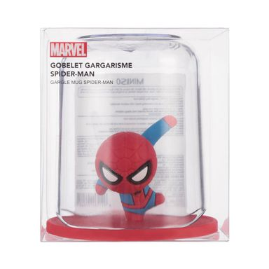 Vaso para higiene bucal spiderman rojo - Marvel