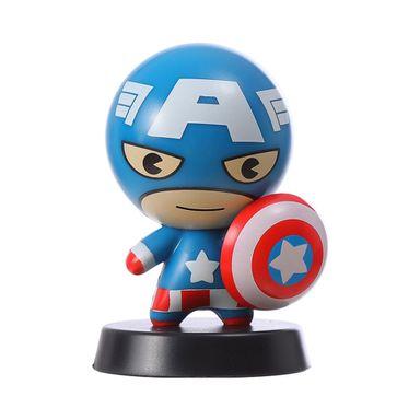 Adorno para auto muñeco capitan america celeste - Marvel