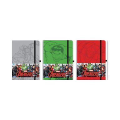 Libreta de notas capitán américa mediana plomo/verde/rojo -  Marvel