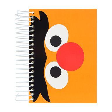 Libreta con espiral a6 diseños mixtos 160 hojas rojo/anaranjado/amarillo - Plaza Sésamo