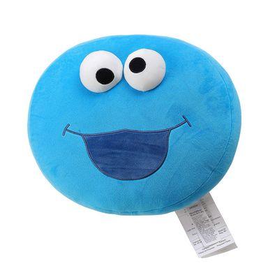 Almohada redonda come galletas azul - Plaza Sésamo