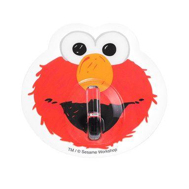 Paquete de ganchos adhesivos modelos mixtos 4 pzas rojo/celeste - Plaza Sésamo