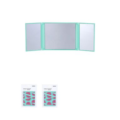 Espejo tri pegable verde -  Miniso