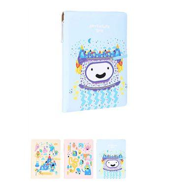 Libreta de notas con pluma 80 hojas rosado/beige/celeste - Adventure Time