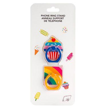 Soporte para celular tipo anillo colores mixtos 2 pzascandy time - Candy Series
