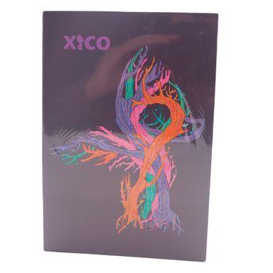 Paquete de libreta  XICO diseño mixto espiral celeste/morado 21.5x14.3x1 cm 3 pzs