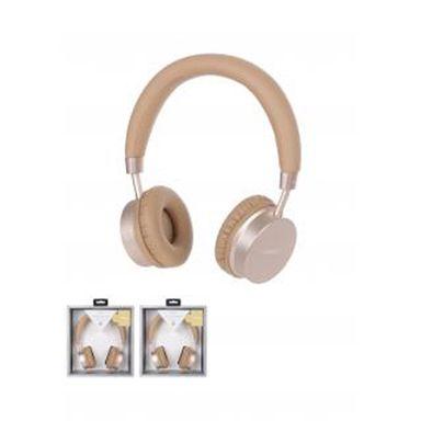 Audifonos de diadema inalambrico premium h-023 dorado - Miniso