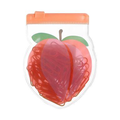 Juego de clips y ligas en bolsa con forma de durazno y sandia modelos mixtos - Energy Of Fruits