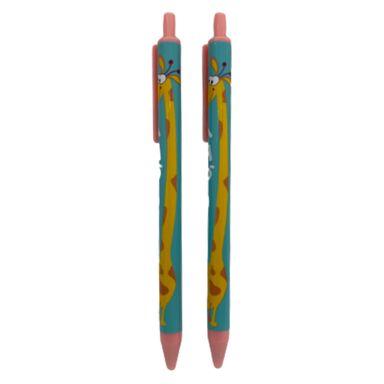 Lapicero tinta azul jirafa 2 pzs -  Miniso