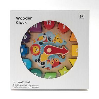 Juguete de madera reloj - Miniso