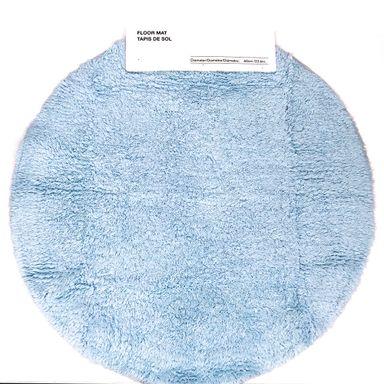Tapete circular azul cielo 100% algodón -  Miniso