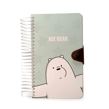 Cuaderno y libreta grande para notas con espiral 180 hojas - We Bare Bears