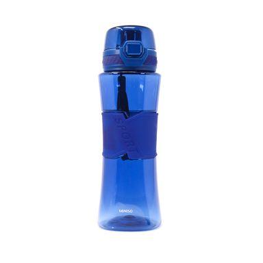 Cilindro de plástico tritan con tapa spring azul 510ml - Miniso