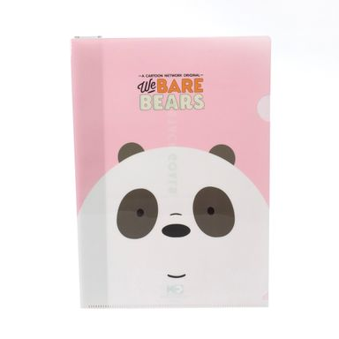 Paquete de folder rosa azul A4 3 pzas -  We Bare Bears