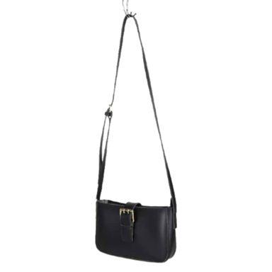 Bolso de hombro con hebilla modelo coreano negro -  Miniso